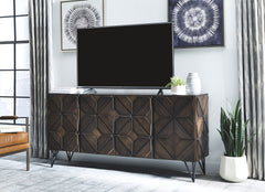 Chasinfield - Dark Brown - Extra Large TV Stand