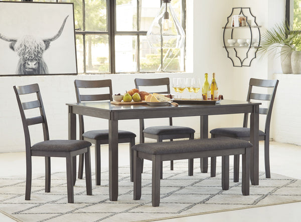 Bridson - Gray - RECT DRM Table Set (6/CN)