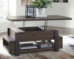 Vailbry - Brown - Lift Top Cocktail Table