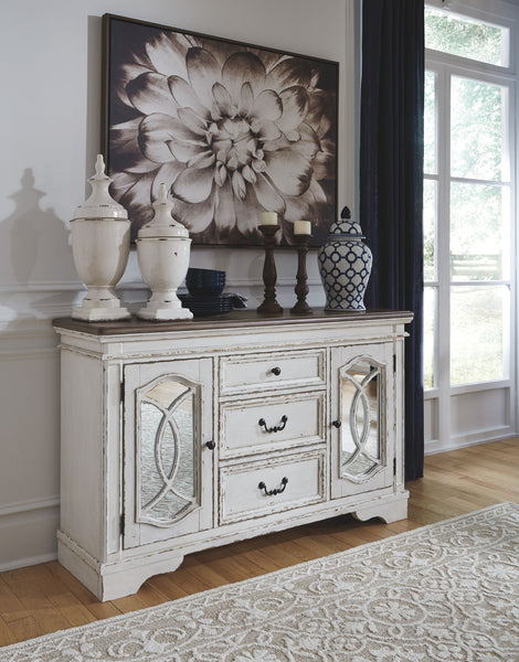 Realyn - Chipped White - Dining Room Server
