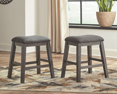 Caitbrook - Gray - Upholstered Stool