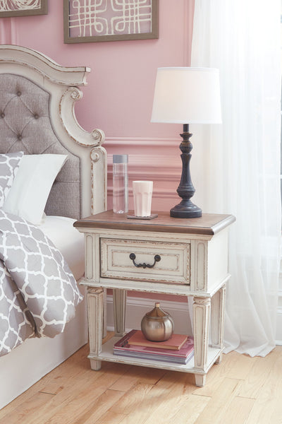 Realyn - Chipped White - One Drawer Night Stand
