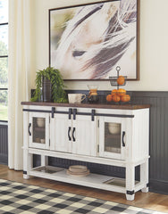 Valebeck - White/Brown - Dining Room Server