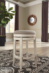 Realyn - Chipped White - UPH Swivel Stool (1/CN)