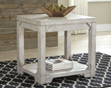 Fregine - Whitewash - Rectangular End Table