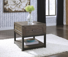 Johurst - Grayish Brown - Rectangular End Table