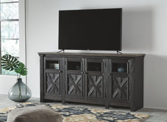 Tyler Creek - Black/Gray - Extra Large TV Stand