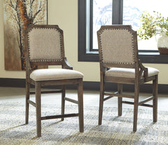 Wyndahl - Rustic Brown - Upholstered Barstool