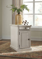 Laflorn - White - Chair Side End Table
