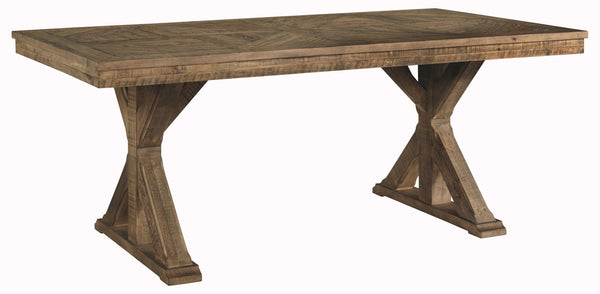 Grindleburg - Light Brown - Rectangular Dining Room Table