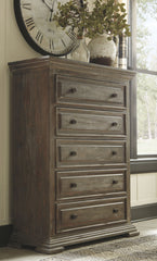Wyndahl - Brown - Five Drawer Chest