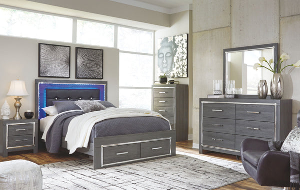 Lodanna Queen Storage Bed w/Dresser and Mirror