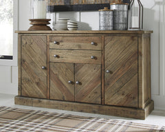 Grindleburg - Light Brown - Dining Room Server