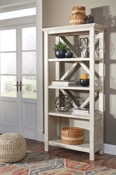 Carynhurst - Whitewash - Large Bookcase