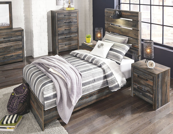 Drystan Multi Twin Bed w/ Dresser & Mirror