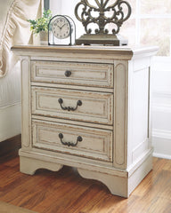 Realyn - Two-tone - Three Drawer Night Stand