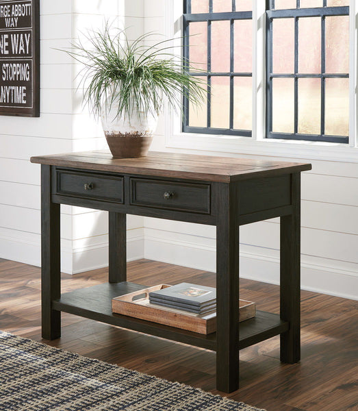 Tyler Creek - Grayish Brown/Black - Sofa Table