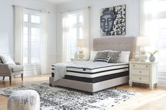 Chime 10 Inch Hybrid White Twin Mattress & Foundation