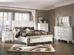 Prentice Queen Storage Bed w/ Dresser Mirror & Nightstand
