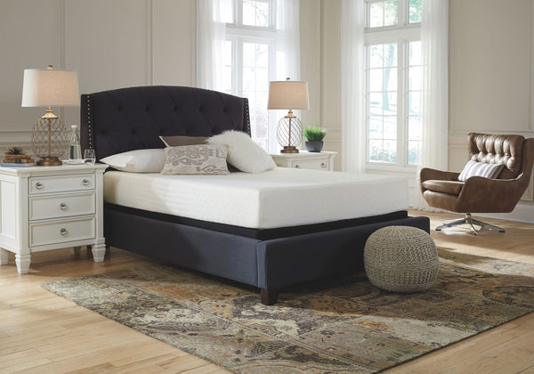 10 Inch Chime Memory Foam Twin Mattress& Foundation