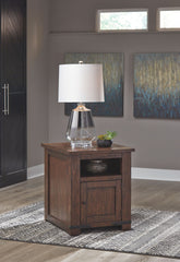 Budmore - Brown - Rectangular End Table