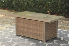 Beachcroft - Beige - Rectangular Fire Pit Table
