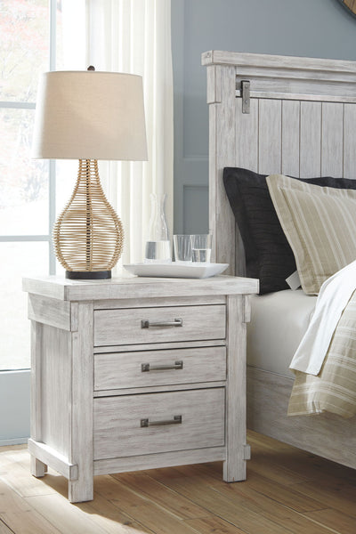 Brashland - White - Three Drawer Night Stand