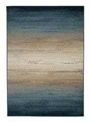 Ignacio Blue/Tan Medium Rug - Ashley shop at  Regency Furniture