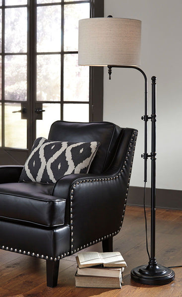 Anemoon Black Metal Floor Lamp (1/CN) - Ashley shop at  Regency Furniture