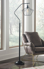 Maleika Black Metal Floor Lamp (1/CN) - Ashley shop at  Regency Furniture