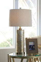Farrar Gold Finish Glass Table Lamp (1/CN) - Ashley shop at  Regency Furniture