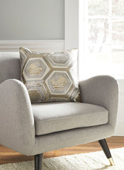 Meiling- Metallic Pillow - Ashley shop at  Regency Furniture