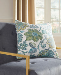 Miriam- Blue/Cream Pillow - Ashley shop at  Regency Furniture