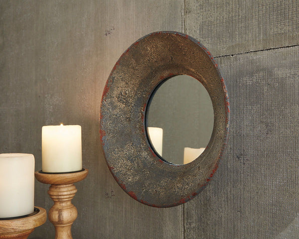 Carine Gray Accent Mirror - Ashley shop at  Regency Furniture
