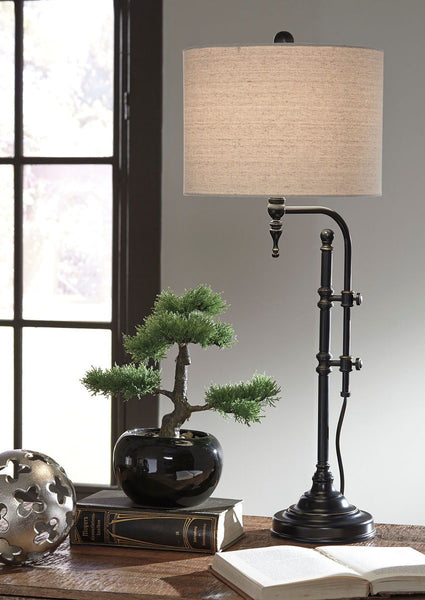 Anemoon Black Metal Table Lamp (1/CN) - Ashley shop at  Regency Furniture