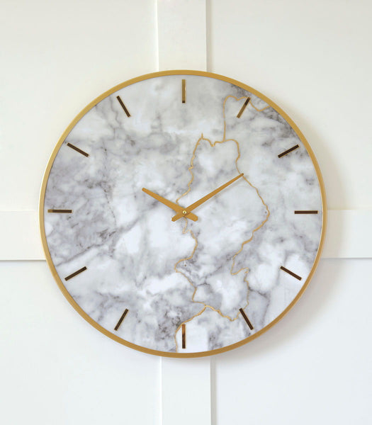Jazmin Gray/Gold Finish Wall Clock - Ashley shop at  Regency Furniture