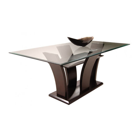 Daisy Rectangular Glass Dining Table