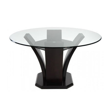 Daisy Round Glass Dining Table