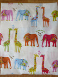 Colourful Elephant and Giraffe