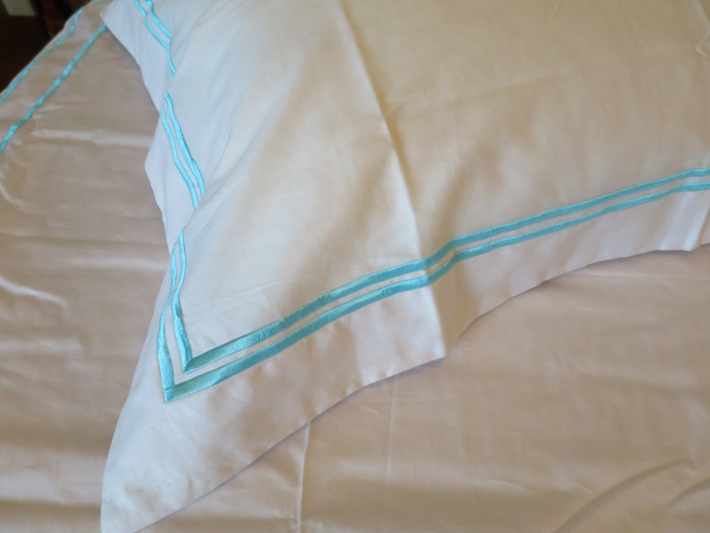 Double Line Embroidery Duvet Cover