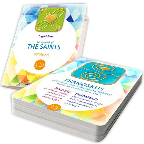 The Symbols of the Saints. 33 energized symbol cards (english with guidebook) by Ingrid Auer
