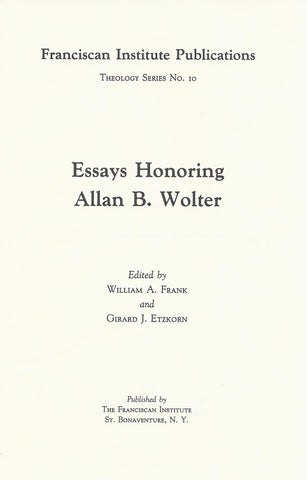Essays Honoring Allan B. Wolter