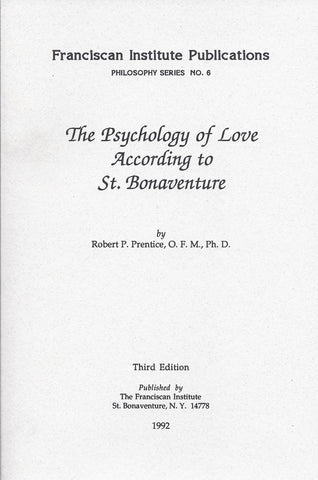 The Psychology of Love According to St. Bonaventure