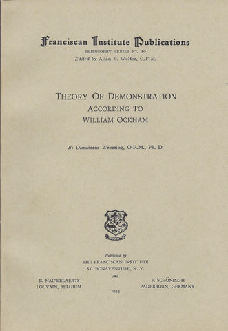 Theory of Demonstration According to William of Ockham