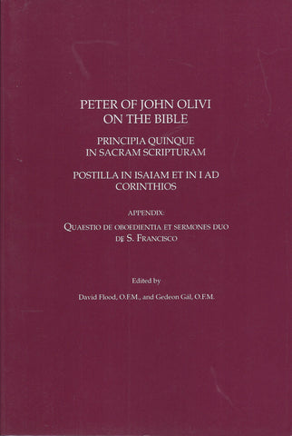 Peter of John Olivi on the Bible
