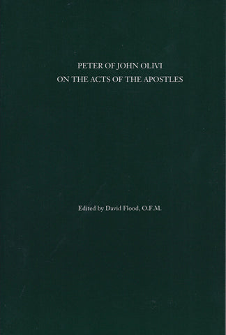 Peter of John Olivi on the Acts of the Apostles