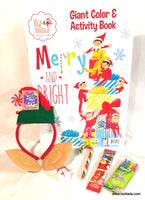 Elf on the Shelf Christmas Giant Colouring Book