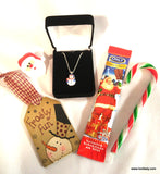 Christmas Pendant Jewelry - You Choose Santa or Snowman
