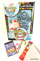 Christmas Craft Stained Glass Santa (made easy)