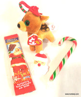 Teany Beanie Baby 2017 Christmas Reindeer with Clip